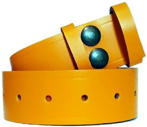 38mm Yellow Snap Fit Leather Belt